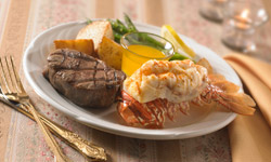 Surf and turf plate with place setting